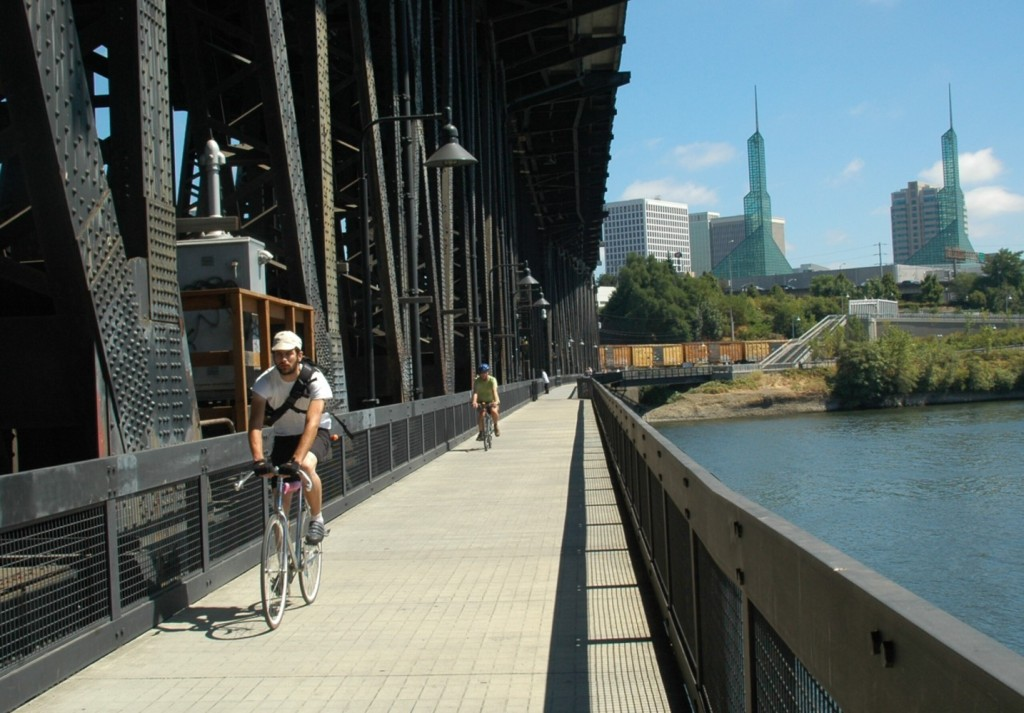 """Portland, Oregon: a model of a """"Green City"""" that is a delight to explore, especially by bike. The White House has just named Portland one of 16 """"Climate Action Champions"""" © 2014 Karen Rubin/news-photos-features.com"""