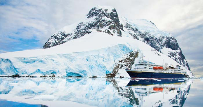 Lindblad's Arctic expeditions are set aboard the 148-guest National Geographic Explorer, with an ice-strengthened hull and advanced navigation equipment for polar expeditions; and fleet of Zodiacs and sea kayaks.