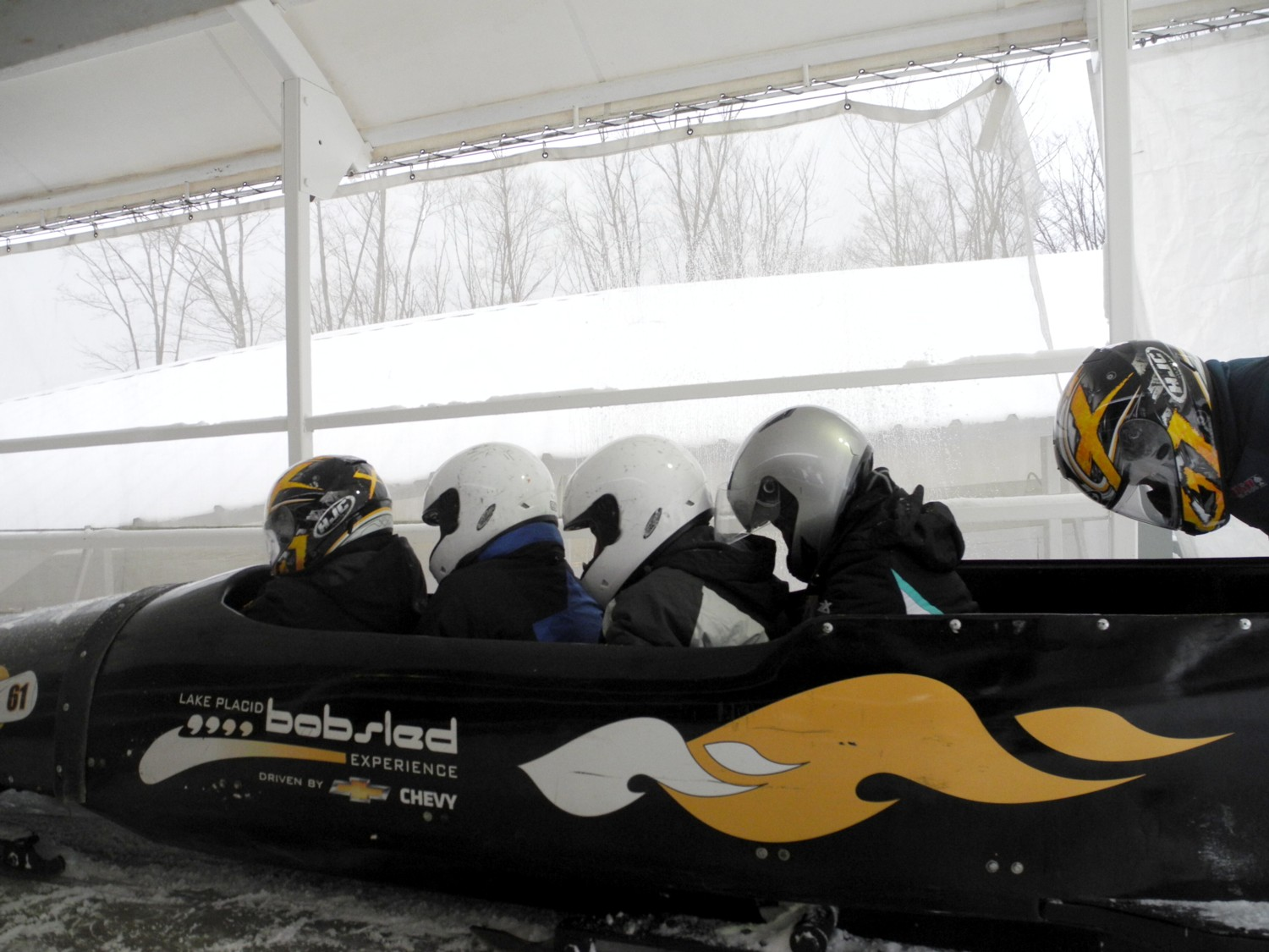 Feel like an Olympian at the bobsled run at Lake Placid, New York © 2015 Karen Rubin/news-photos-features.com