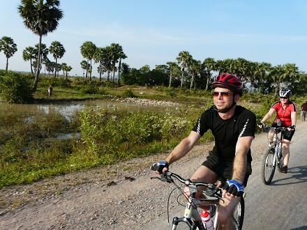Biking in Cambodia with BikeTours.